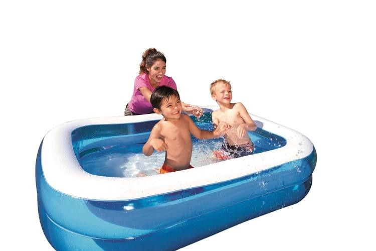 Kolam Renang Anak Blue Squared Inflatable Kids Family Pool Bestway