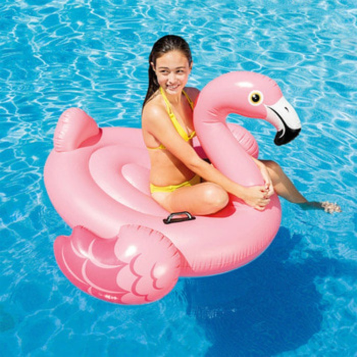 Pelampung Renang Duduk Floaties Pink Flamingo Ride-on INTEX 57558