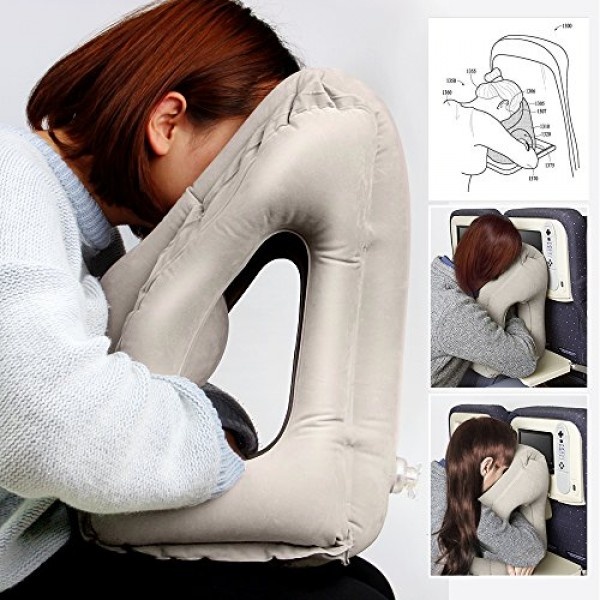 Bantal Leher Travel Pillow Inflatable Travel Pillow Bantal Angin Peluk
