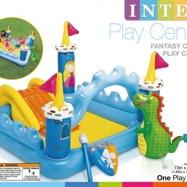 Kolam Bermain Anak BIG Size Dino Seluncuran Intex Fantasy Castle Play Center
