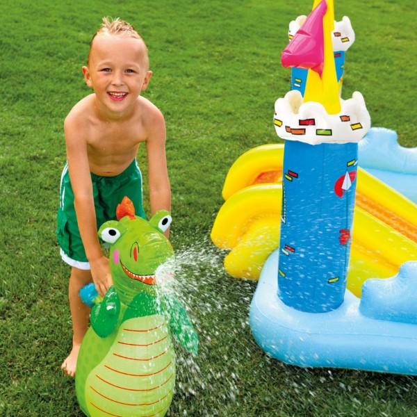 Kolam Bermain Anak BIG Size Dino Seluncuran Intex Fantasy Castle Play Center