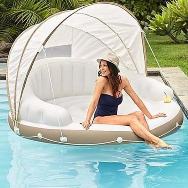 Kolam Karet Canopy Island Floaties Lounge Superdeluxe1.99m intex 58292