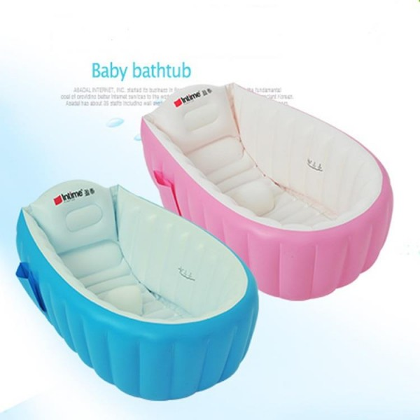 Kolam Mandi Bayi Baby Bath Tube Intime Bonus Pompa Injak