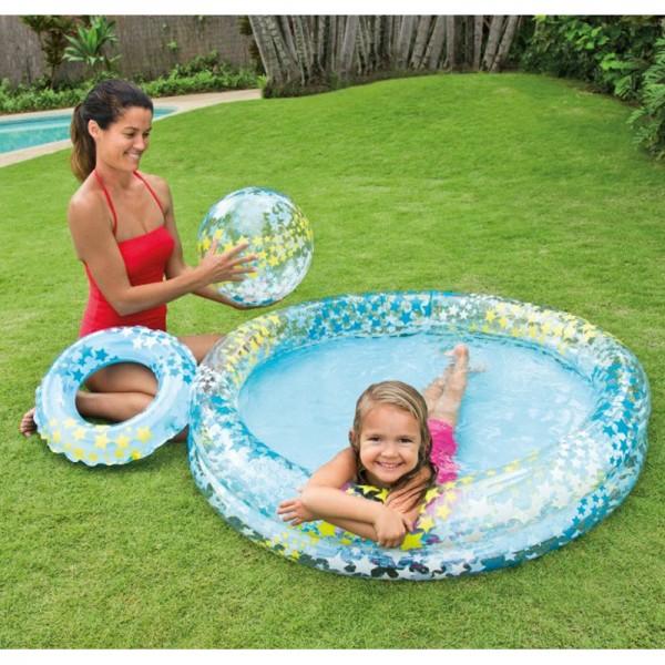 Kolam Renang Anak Bonus Bola dan Ban Renang Stargaze Pool Set Intex