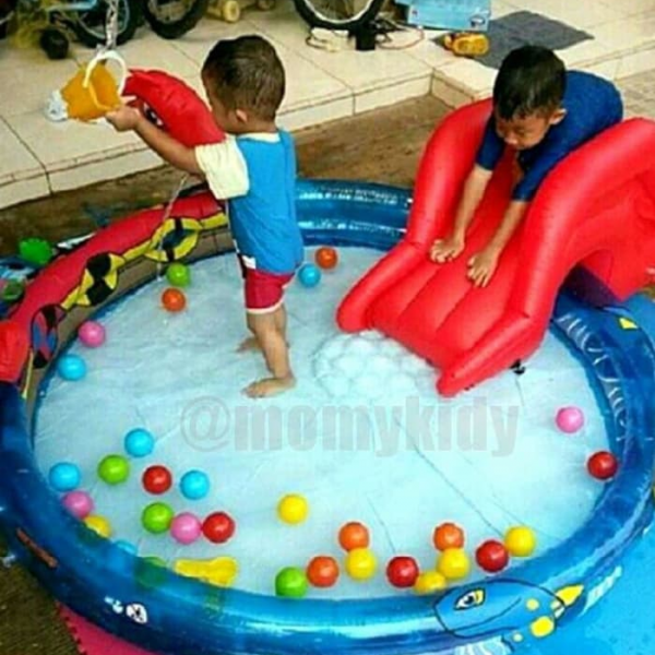 Kolam Renang Anak Bonus Bola / Viking Pool Bestway Play Pool