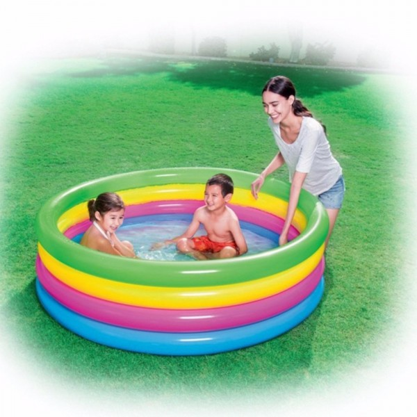 Kolam Renang Anak Rainbow 4 Ring Play Pool Bestway 51117