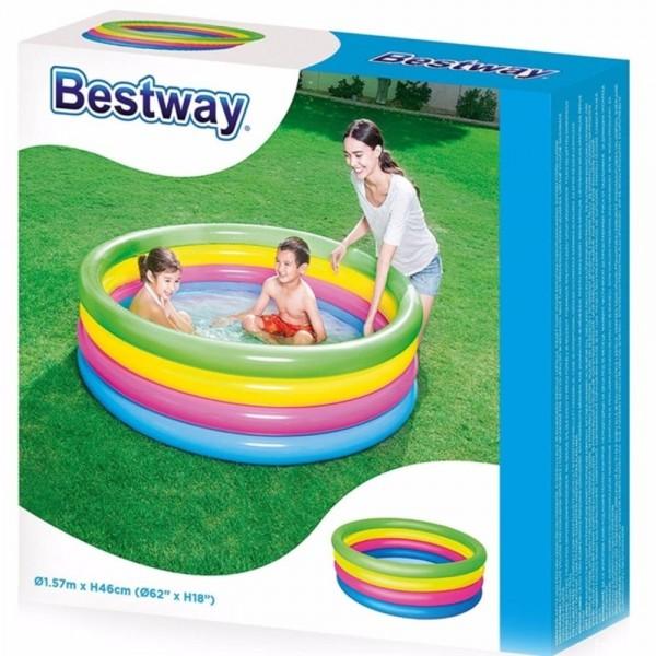 Kolam Renang Anak Rainbow 4 Ring Play Pool Bestway 51117