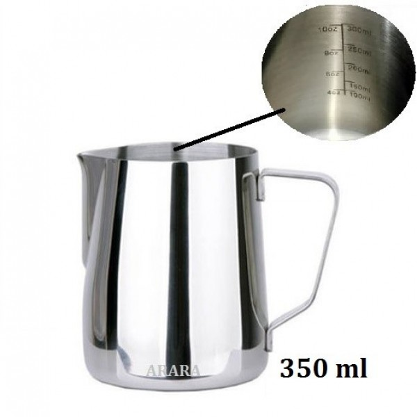 Milk Jug Barista Terbaik Lancip Latte Art Steam Pitcher 350ml