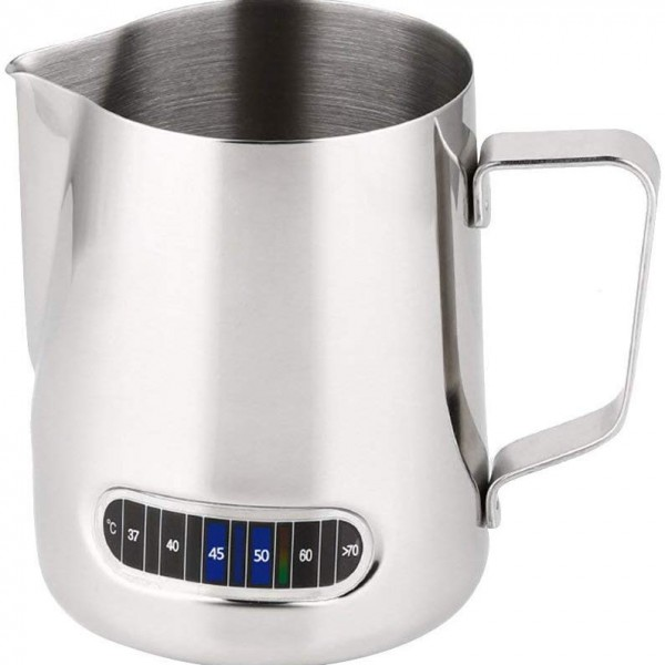 Milk Jug Thermometer Milk Frothing Pitcher With Stainless Steel 600