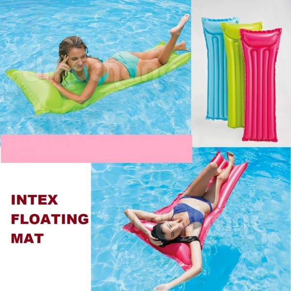 Pelampung Matras Kasur Intex Single Floating Mat 59703
