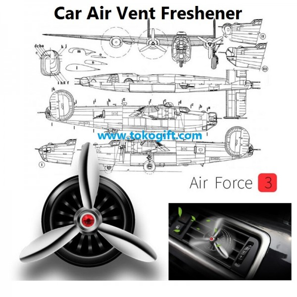 Pengharum Parfum Mobil LED Baling Baling Car Air Freshener Air Force 3