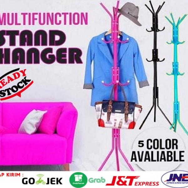 Standing Hanger Multifunction Gantungan Topi Tas Jaket Serbaguna