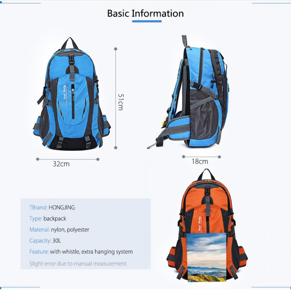 Tas Hiking / Travel Hong Jing Backpack Ransel Mountainerin 40L