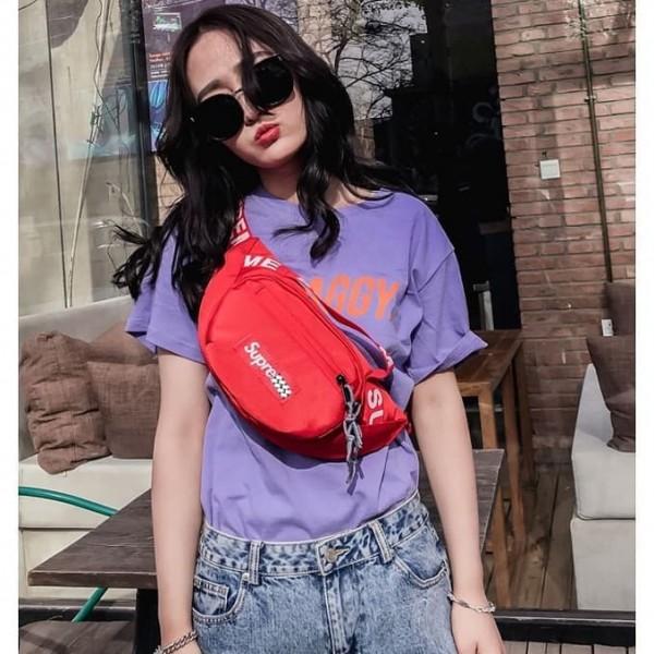 Tas Pinggang Supreme / Sling Bag Pria Wanita Waist Bag Body Bag T108