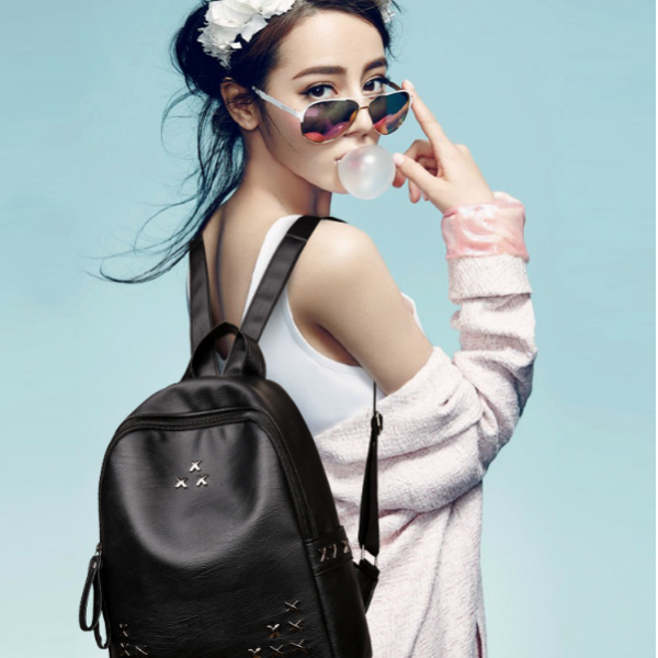 Tas Ransel Wanita korea / Korean Bagpack With 3 Stars