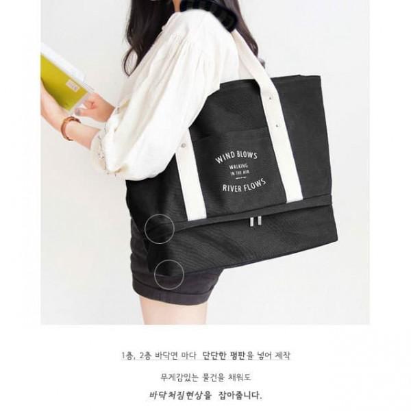 Tote Bag Travel Organizer / Tas Bahu Wanita Korean Iconic